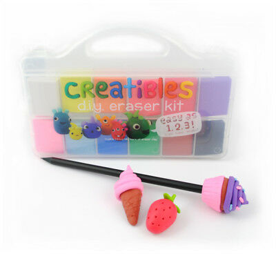 International Arrivals Creatible DIY Eraser Kit - Set of 12 Colors