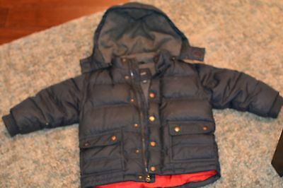 Baby Gap Toddler size 4 years 4T DOWN Winter Coat navy blue snowboard jacket