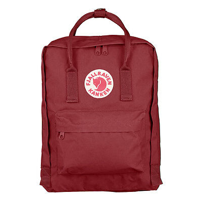 Mochila in Fjall Raven Kanken Classic Style Ox Red Swedish arctic fox backpack