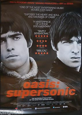 Oasis Supersonic Original 2016 1 Sheet Poster Noel & Liam Gallagher