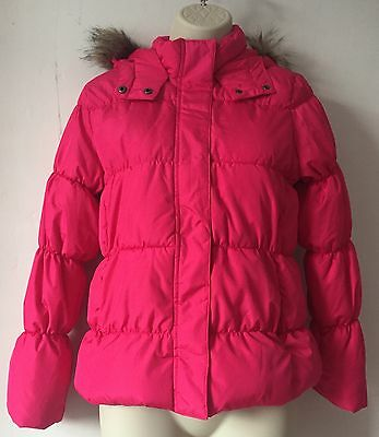 GAP Girls Padded Coat/ Jacket Fuchsia Pink 12 Years/ Womens 6 BNWT