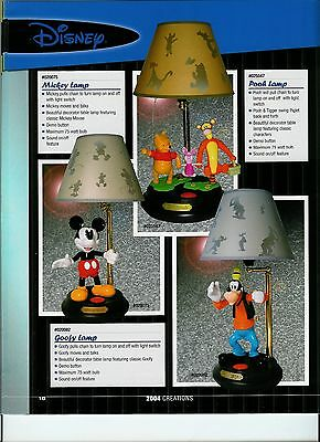 Mickey Mouse or Goofy  Animated Lamp