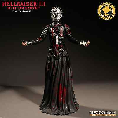 "Hellraiser 3 Hell On Earth Bloody Variant Pinhead 12"" Figure Mezco Toys IN STOCK"
