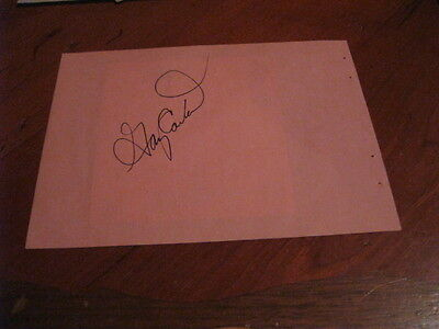 Gary Carter Autographed Index Card/Photo JSA Auc Certified