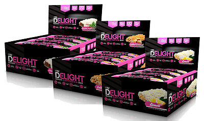 FitMiss Delight Bars Fight Hunger Build Muscle High-Protein Supplement (12 Pack)