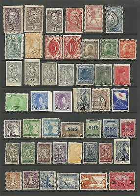 Yugoslavia Collection 47 Stamps OVERPRINTS Good to Fine Used Mounted Mint