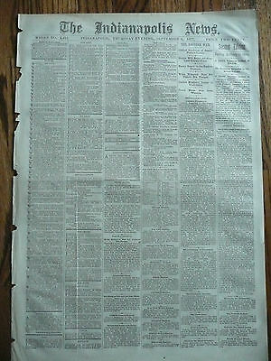 Crazy Horse is killed! Original 1877 Newspaper Front Page Report Sioux Indian