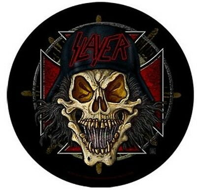 Slayer round BACK PATCH New Official Unholy skull