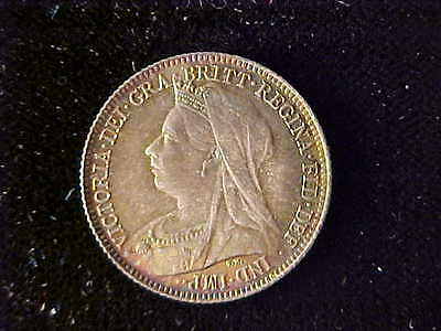 Great Britain Victoria Old Head Sixpence 1895 Nice Bu