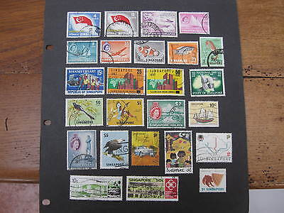 Singapore selection of 25 good used pictorial stamps - good cat