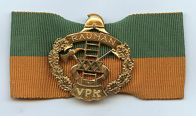 Finland Firefighter Badge VPK Service 30 Years Fireman High Condition !!!