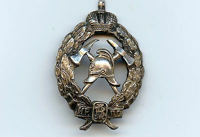 Imperial Russia Silver 84 Miniature Badge Firefighters Nice Grade Rare !!!!
