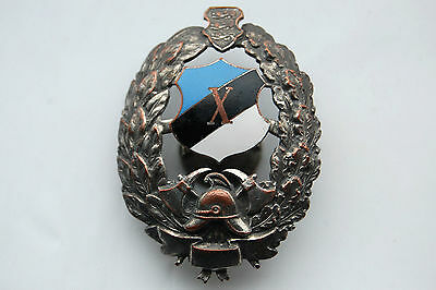 Estonia Firefighters Fire Service 10 Years 1918-1940 Badge Award Nice Grade !!!
