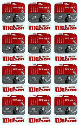 WILSON Super Spin Synthetic Gut tennis racquet string - 12 Packs - Free Shipping