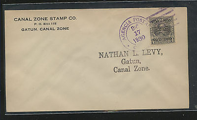 Panama   259  first day  cancel  cover   1930        MS0726
