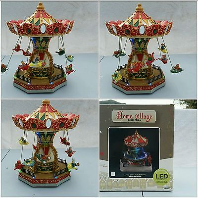 Decoration Noel Home Village Collection CARROUSEL MUSICAL Tehnologie LED
