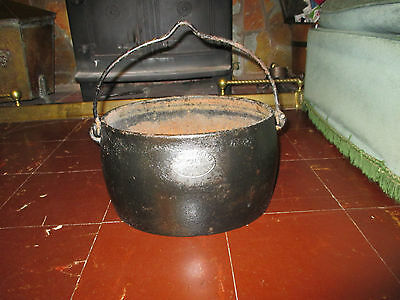 Antique Cast Iron Cooking Pot - Romany Gypsy Style Or Planter By J&j Siddons