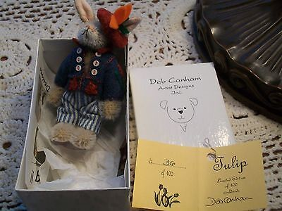 "Deb Canham Limited Edition #36 of 400 ""Tulip"" Mohair Rabbit"