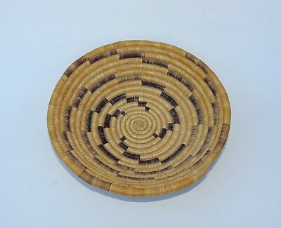 Southwest Native American Indian Pima or Papago Coiled Basket Bowl Vintage