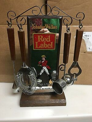Vintage Bar Accessory Mirror stand With Utensils