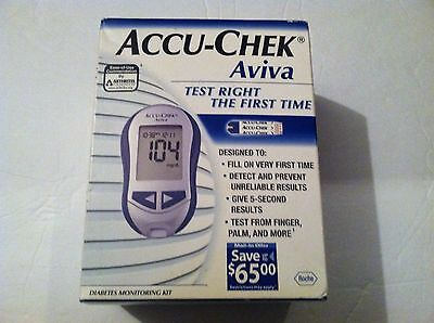 Accu-Chek Aviva Plus Test Right The FIrst Time Diabetes Monitoring Kit