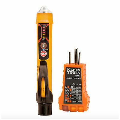 Klein Electrical Test Kit Non Contact Voltage AC Volt Receptacle Tester Meter