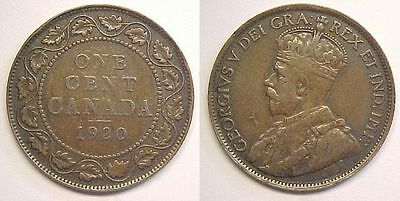 1920 Canadian Large Cent Fine F