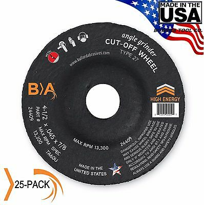 Bullard Abrasives 4-1/2 x .045 x 7/8 Depressed Center Cut-Off Wheel United 25-PK