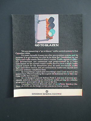 """Vintage 1969 Canadian General Electric Print Ad, 12.25"""" X 10.375"""""""