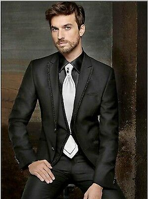 New Style Groom Groomsmen Mens Wedding Tuxedos Custom Formal Dinner Party Suits