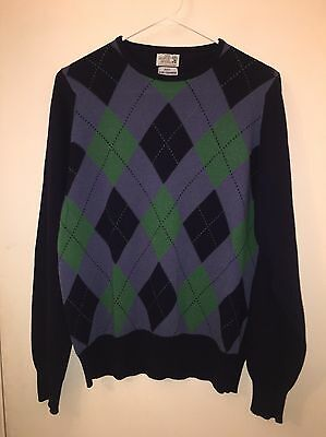 Vintage Men's The Scotch House Argyle Cashmere Sweater