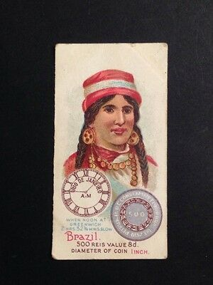 Wills VICE REGAL Cigarette Card TIME & MONEY IN DIFFERENT COUNTRIES, Brazil #49