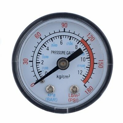 "New Air Pressure Gauge0-180PSI 0-12Bar 1/8"" BSP Thread For Air Compressor"
