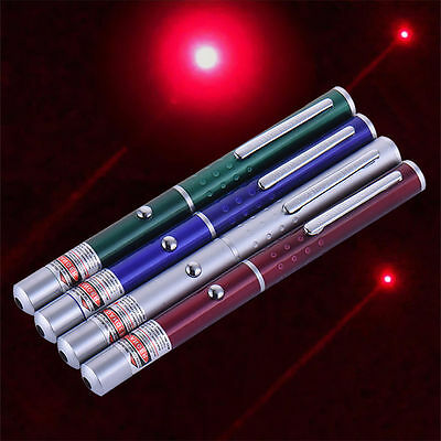 650nm 5mw Powerful Visible Light Beam Red Focus Burning Laser Pointer Pen Torch