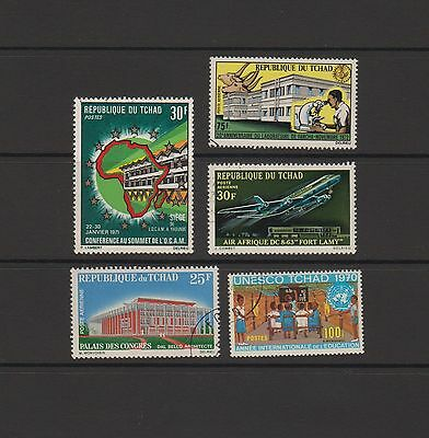 Chad - 5 commemorative stamps