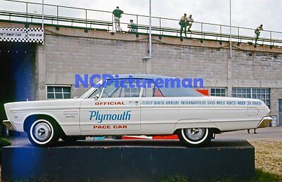 "1965 Plymouth Sport Fury Indy 500 Pace Car 8"" x 12"" photo from Jun 65 slide"