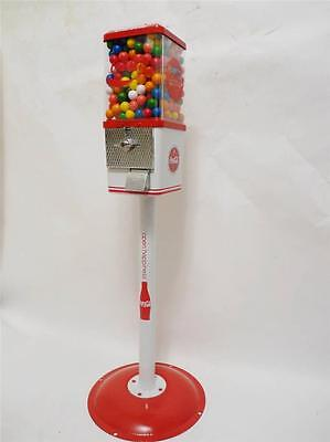 Vintage Komet Coca Cola  Drink Soda Gumball Candy Vending Machine+ Stand