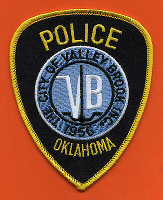 City of Valley Brook Inc. Oklahoma Law Enforcement Patch