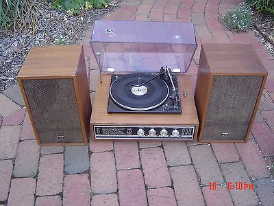HMV Record Player Turntable Stacker 8+8. Plays 78s. BSR Mechanism. Retro