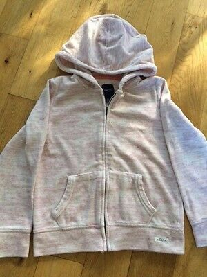Gap Kids girls pale pink thick & Cosy velour zip hoodie size L age 10
