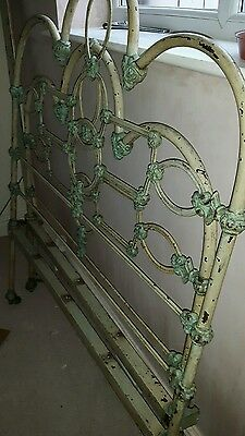 """French ornate cast iron bed 3'6"""" single"""