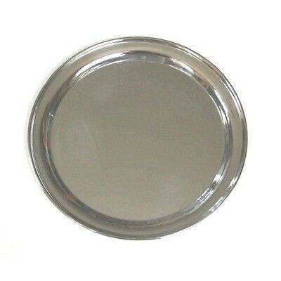 16 Inch Round Stainless Steel Serving Tray