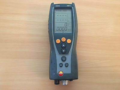 TESTO 327-1 Flue Gas Analsyer SN01312436 NO CURRENT CALIBRATION WONT CHARGE