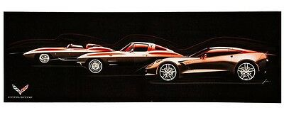 Chevy Corvette Stingray Generations Canvas Wall Decor  Mancave Limited Edition