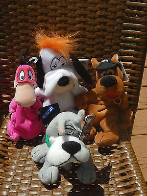 Warner Brothers Bean Bag Plush Scooby Doo Dino Droopy Astro With Tags, 1998 NM!