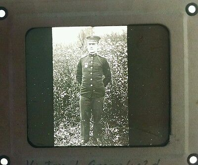 Victor Animatograph WWI United States Army Decorated Soldier Glass Slide