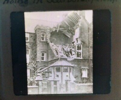 Victor Animatograph WWI First Shell Bombardment Scarborough Glass Slide