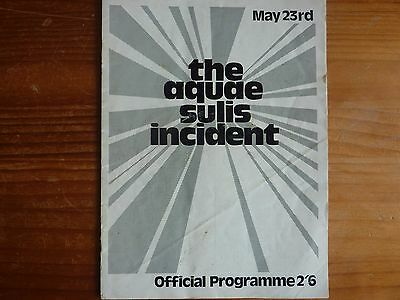 The Aquae Sulis Incident: Programme from Festival held in Bath in 1970.