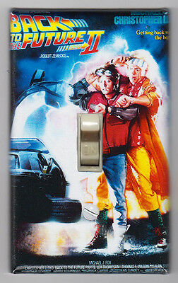 Back to the Future II Movie Poster Light Switch Plate Marty McFly Doc Brown