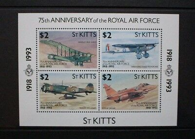 ST KITTS 1993 Royal Airforce Aircraft. SOUVENIR SHEET Mint Never Hinged. SGMS373